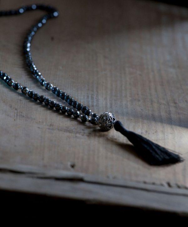 haematit mala kette schwarz silber
